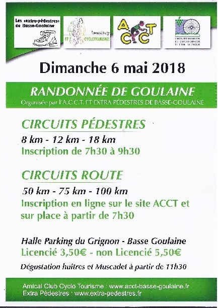 Inscription Rando du 06 mai